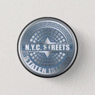 Manhole Staten Island Blue Button