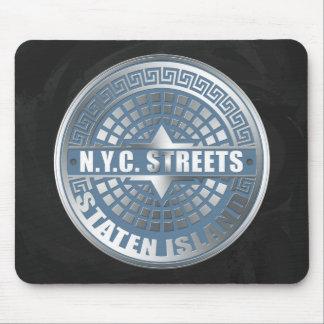 Manhole Staten Island Blue Mouse Pad
