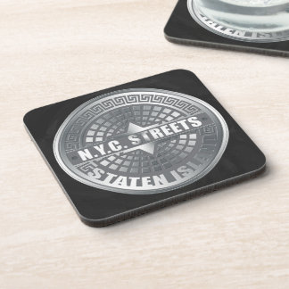 Manhole Staten Island Gray Drink Coaster