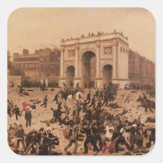 Manhood Suffrage Riots in Hyde Park, 1866 Square Sticker