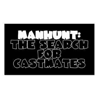 Manhunt: The Search for Castmates Business Card Templates