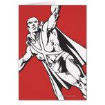 Manhunter marciano se eleva 2 tarjeta de felicitación