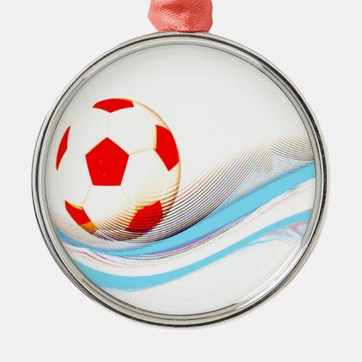 ¡Manía del balón de fútbol! Ornamentos De Reyes