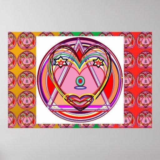 Manía del color de la MARAVILLA: AMOR Posters