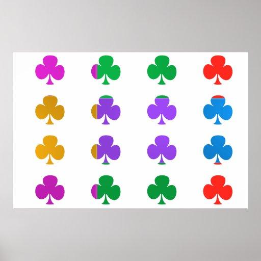 Manía del color de la MARAVILLA: CLUB DEL PÓKER Póster