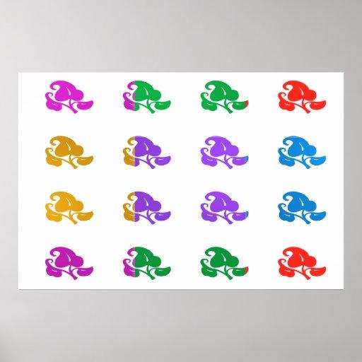 Manía del color de la MARAVILLA: JOYERÍA Poster