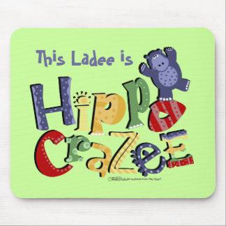 Manía del hipopótamo (en colores claros) alfombrillas de ratones