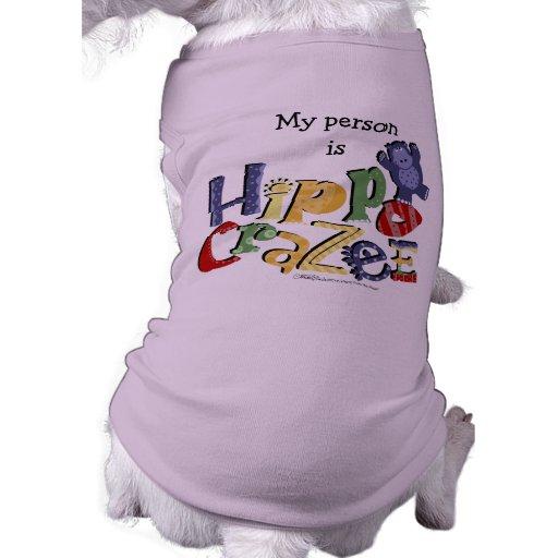 Manía del hipopótamo (en colores claros) camiseta de perrito