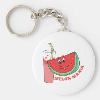 Manía del melón llavero personalizado
