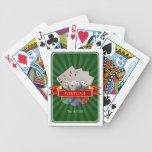 Manía del póker - las tarjetas, cortan en cuadrito baraja
