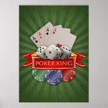Manía del póker - las tarjetas, cortan en cuadrito impresiones