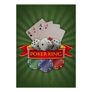 Manía del póker - las tarjetas, cortan en cuadrito póster