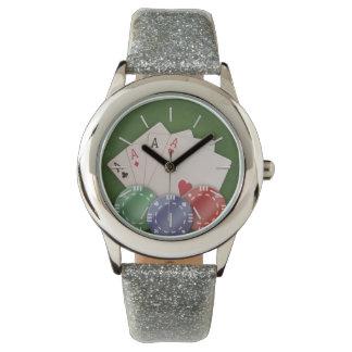 Manía del póker relojes de pulsera