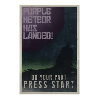 Maniac Mansion Vintage Poster
