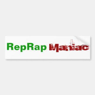 Maniaco de RepRap Etiqueta De Parachoque