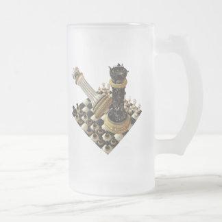 Maniaco del ajedrez taza de cristal