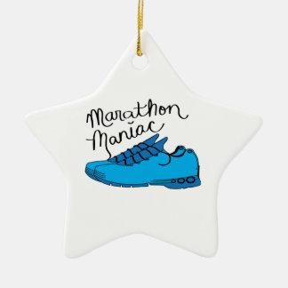 Maniaco del maratón ornamentos de navidad