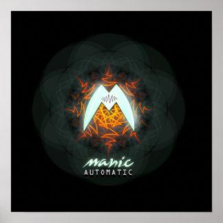 Manic Automatic Logo Poster