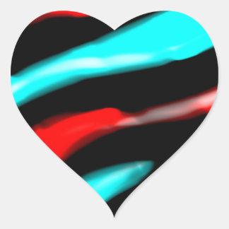 Manic Calm Heart Stickers