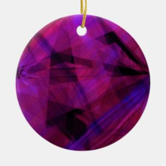 Manic colors ceramic ornament