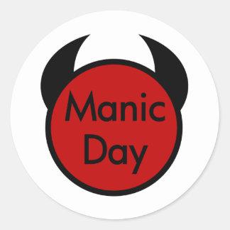 Manic Day Classic Round Sticker