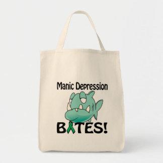 Manic Depression BITES Grocery Tote Bag
