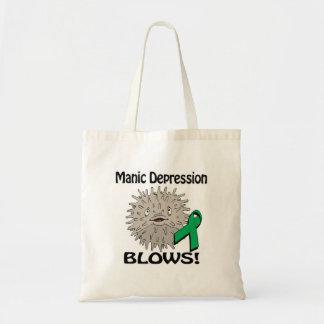 Manic Depression Blows Awareness Design Budget Tote Bag
