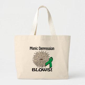 Manic Depression Blows Awareness Design Jumbo Tote Bag