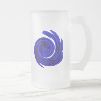 Manic Frosted Glass Beer Mug