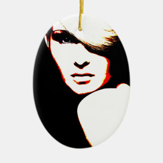 Manic Kin 1 Ceramic Ornament