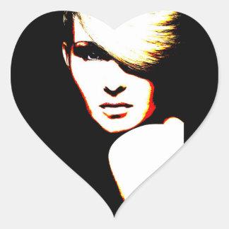 Manic Kin 1 Heart Stickers