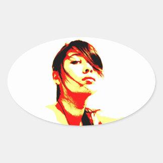 Manic Kin 3 Oval Sticker