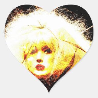 Manic Kin 4 Heart Stickers