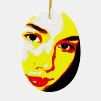 Manic Kin 5 Ceramic Ornament