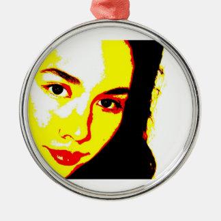 Manic Kin 5 Metal Ornament