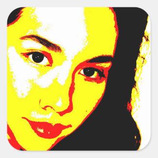 Manic Kin 5 Square Sticker