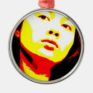 Manic Kin 6 Metal Ornament