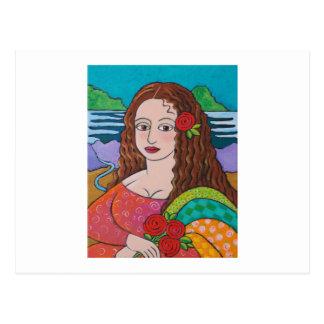 Manic Mona Postcard