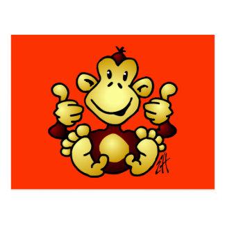 Manic Monkey Postcard