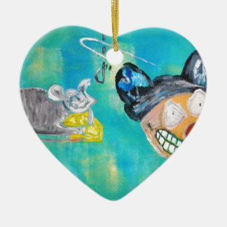 Manic Mouse Ceramic Ornament