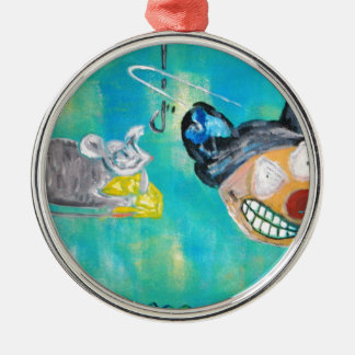 Manic Mouse Metal Ornament