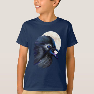 Manic Raven with Moon  T-Shirt