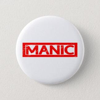 Manic Stamp Pinback Button