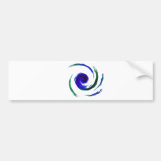Manic Swirl Bumper Sticker