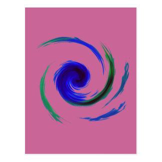 Manic Swirl Postcard