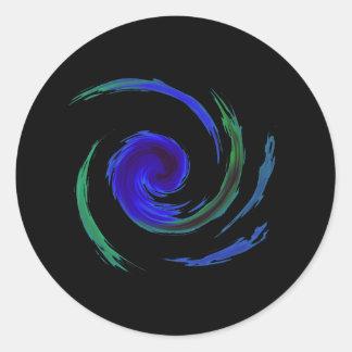 Manic Swirl Round Sticker