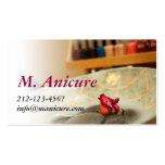 manicura plantillas de tarjetas personales