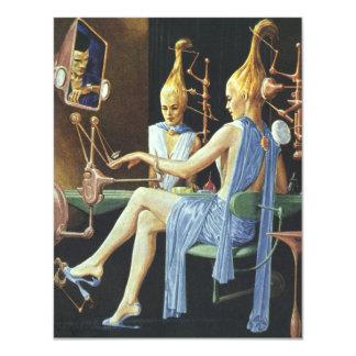 """Manicuras del balneario del salón de belleza de la invitación 4.25"""" x 5.5"""""""