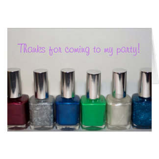 Manicure Party Thank You Card