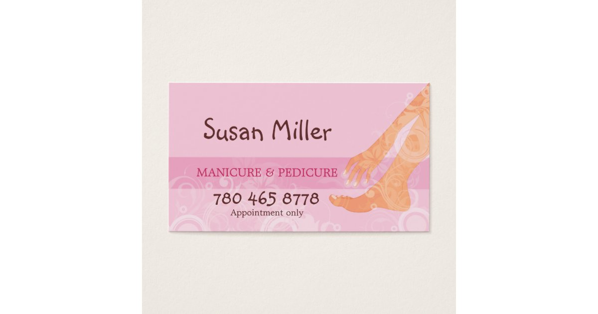 Manicure & Pedicure Business Card | Zazzle.com